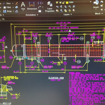 Exchanger Auto CAD